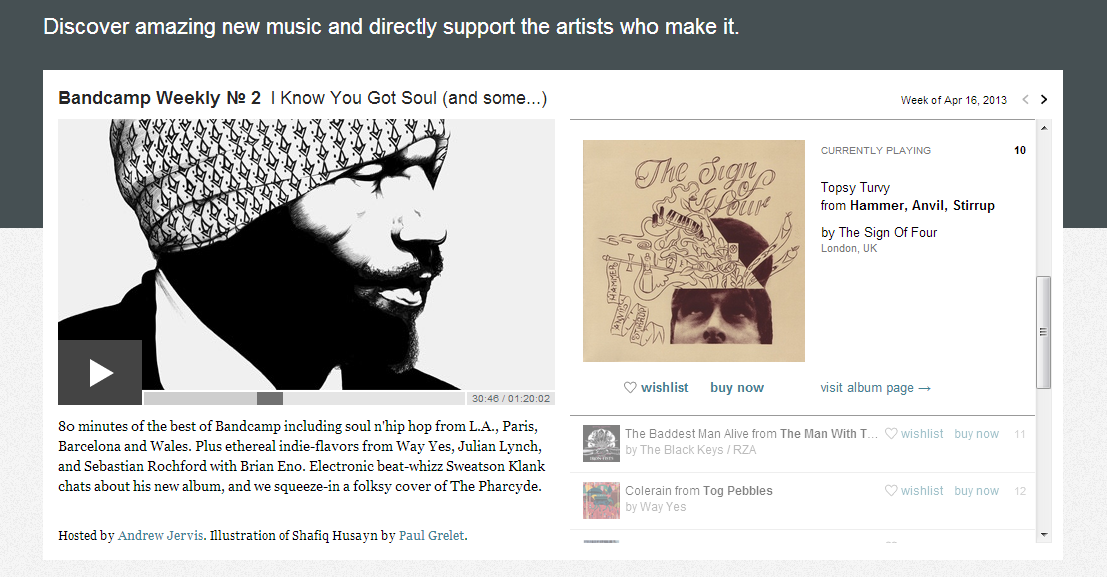 Bandcamp feature of The Sign Of Four