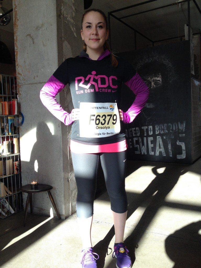 Orsi before the Berlin Half Marathon