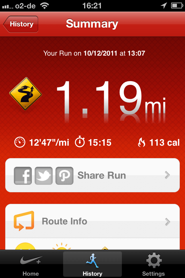 My first ever run