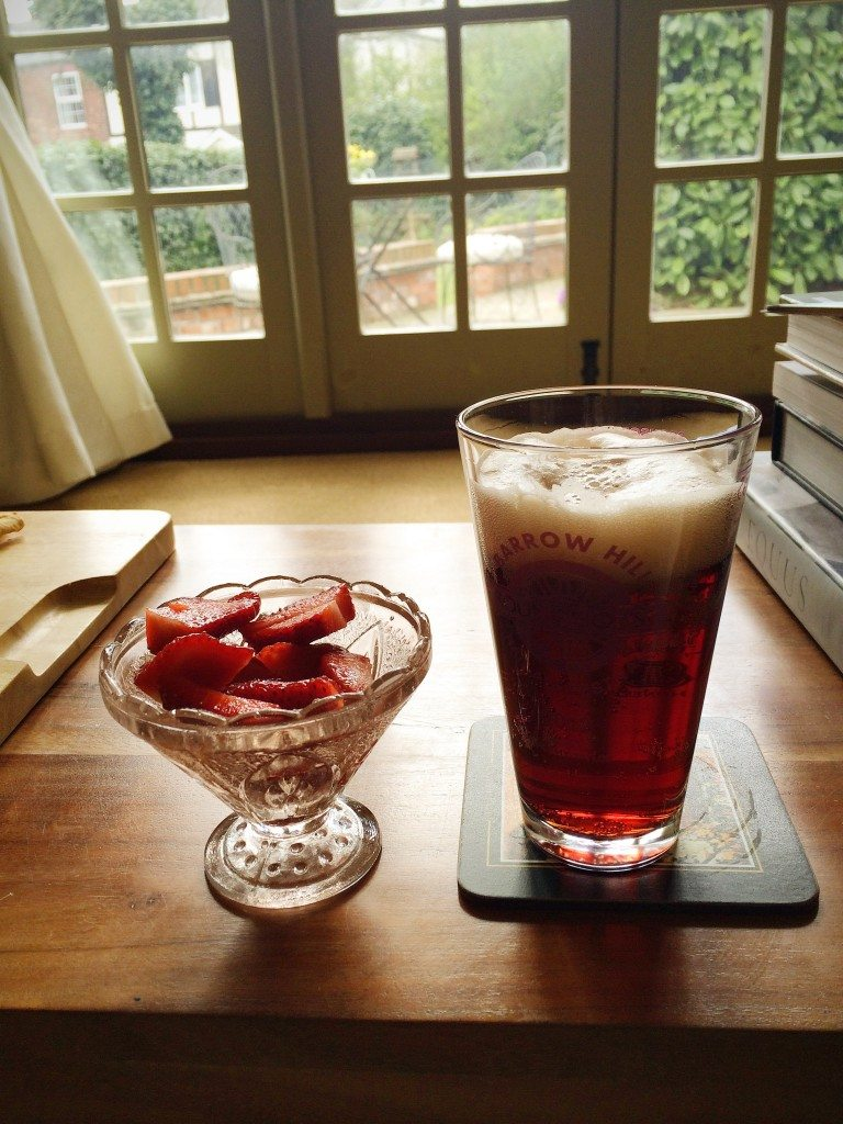 Strawberries and cherry beer