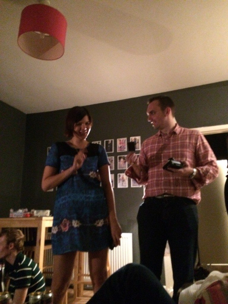 Cata and Martin singing