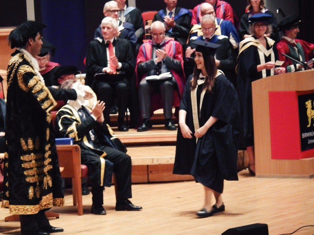 Orsii on stage graduation