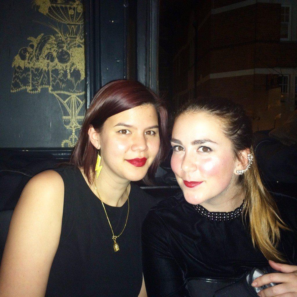 Cata and Orsi at Cata's 28th bday!